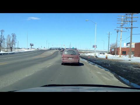 Driving in Detroit, Michigan, U.S.A.