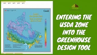 Entering The USDA Zone Into The Greenhouse Design Tool