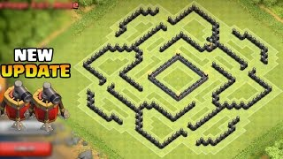 Clash Of Clans - Town Hall 9 (TH9) BEST Farming Base Defense Strategy 2 Air Sweepers New Update 2015