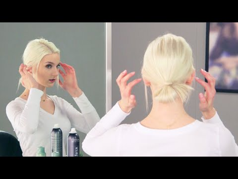 aveda-how-to- -easy-imperfect-bun-tutorial-with-dry-shampoo