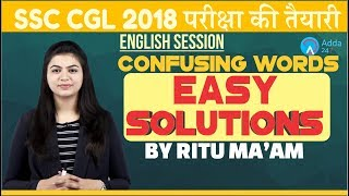 SSC CGL | CONFUSING WORDS EASY SOLUTIONS FOR SSC CGL | ENGLISH |Ritu mam
