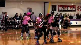 Star City Roller Girls vs Blackwater - Full Game Highlights 02/12/12