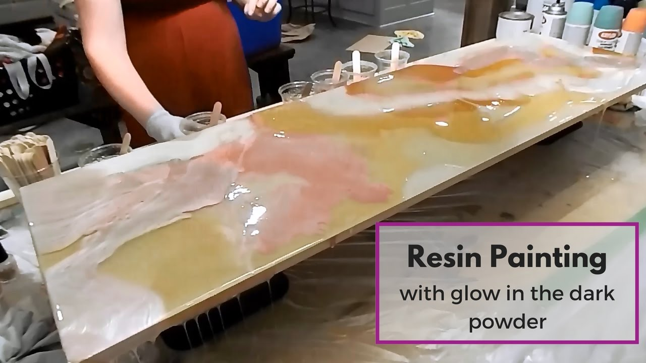 Resin Painting Techniques Using Glow In The Dark Powder