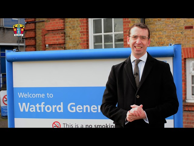 Mayor talks about importance of new carpark in Watford General Hospital