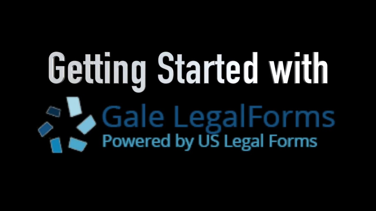 Getting Started With Gale Legal Forms YouTube - Us legal forms