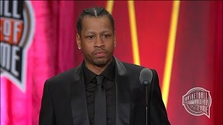 Allen Iverson's Basketball Hall of Fame Enshrinement Speech YouTube Videos