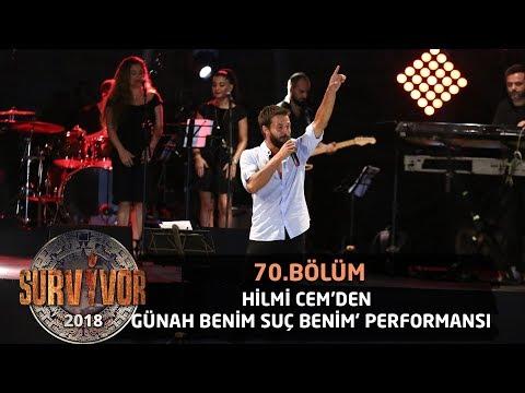 Hilmi Cem 'Günah Benim Suç Benim' şarkısıyla sahnede... | 70. Bölüm | Survivor 2018
