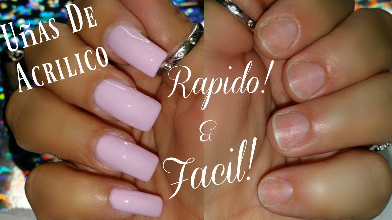 Uñas De ACRÍLICO Muy FACIL & RAPIDO | Acrylic Nails GlamJackie - YouTube