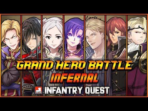 [F2P] INFERNAL All 7 Grand Hero Battles + Infantry Quest (No Skill Inheritance) - Fire Emblem Heroes