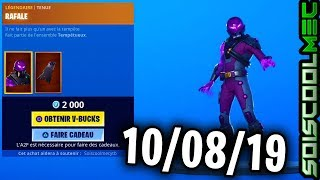 BOUTIQUE FORTNITE 10 AUGUST 2019, NEUE SKINS, ITEM SHOP AUGUST 10, 2019