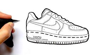 Comment Dessiner Des Nike Air Force 1 Facilement Youtube