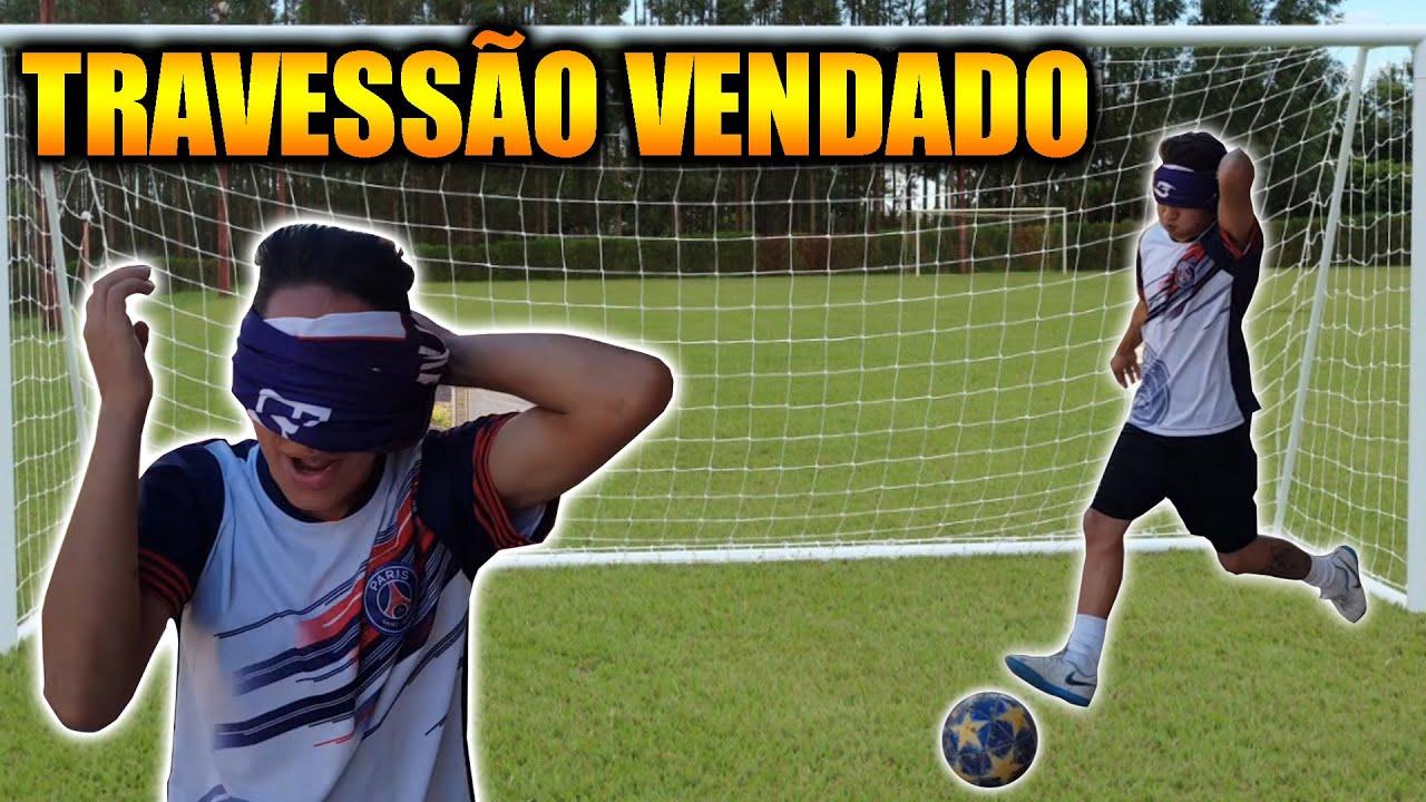 ALADIN FEZ O IMPOSSIVEL NO TRAVESSÃO VENDADO #FUTEBOL