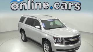 A97048TR Used 2018 Chevrolet Tahoe LT 4WD Silver SUV Test Drive, Review, For Sale