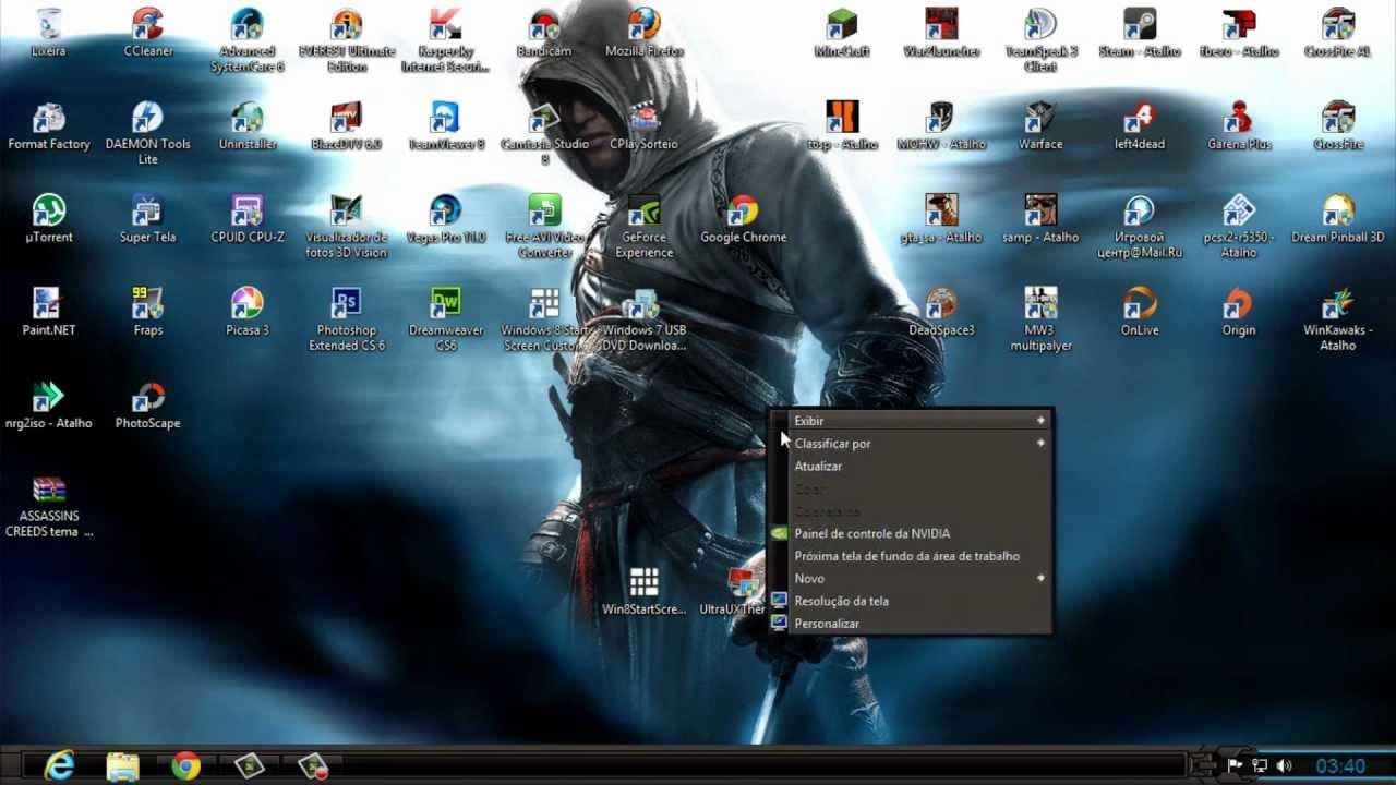 Tema personalizado para windows 8( Assassin's Creed )