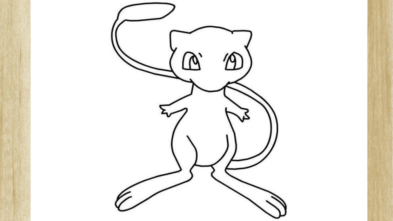 Como Desenhar O Pokemon Mew How To Draw Mew Pokemon Youtube