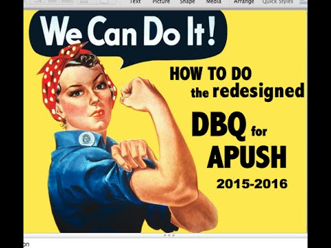 How to do the Redesigned DBQ for APUSH (Current)