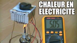 Thermopile : Incroyables Expériences [79] Electricité secours / Module Peltier / Thermoelectric DIY