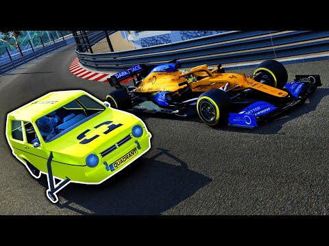 Racing THREE WHEELER CARS at FORMULA 1 TRACKS! (Top Gear Reliant Robins at Monaco!)