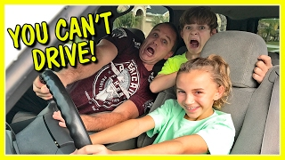 DAD GIVES KAYLA A DRIVING LESSON | We Are The Davises