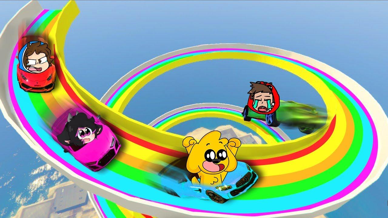 Download 🌈 ¡ESPIRAL GIGANTE de AUTOS con LOS COMPAS! 😱🔥 CARRERA de ESPIRAL en GTA 5 - FranciscoGames