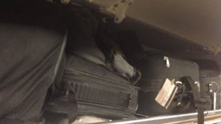 No overhead luggage storage? No Problem