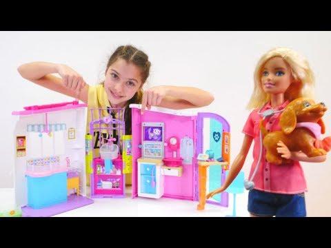 Polen Barbie'ye veteriner kliniği açıyor. Kız oyunları
