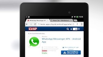 Tutorial: WhatsApp auf Android Tablet installieren - Praxis-Tipp deutsch | CHIP