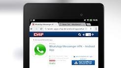 Tutorial: WhatsApp auf Android Tablet installieren - Praxis-Tipp deutsch | CHIP