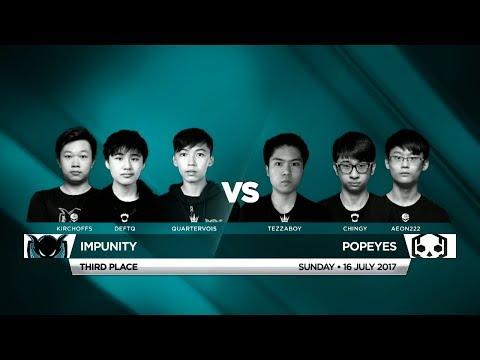 Impunity Vs Popeyes • Vainglory 8 • Southeast Asia • Summer Split 1, Week 4, Third Place