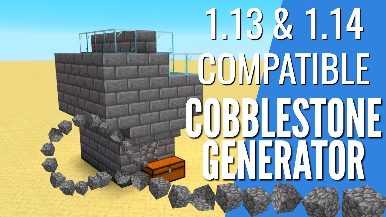 How to Make a CobbleStone Generator in Minecraft 1.14 & 1.13 | Efficient AFK Farm (Avomance 2019)