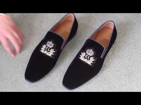 best service be816 48a60 $1,395 Men's Christian Louboutin Logo Dandelion Flat Loafers Review/Unboxing