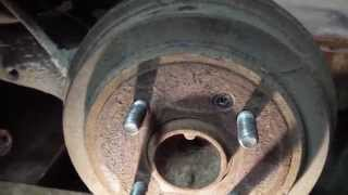 Разведение задних тормозных колодок hyundai getz.