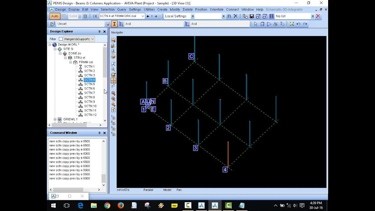 Tutorial of PDMS Civil / Structural Design for Creating of Grid