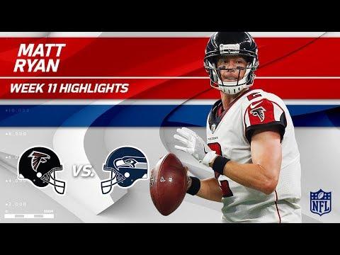 Matt Ryan Helps Lead Atlanta to Victory w/ 2 TDs!   Falcons vs. Seahawks   Wk 11 Player Highlights