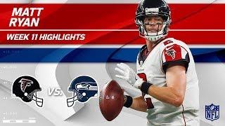 Matt Ryan Helps Lead Atlanta to Victory w/ 2 TDs! | Falcons vs. Seahawks | Wk 11 Player Highlights