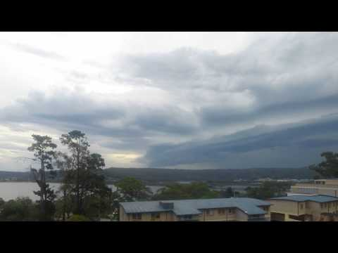 Clouds forming over Gosford Waterfront