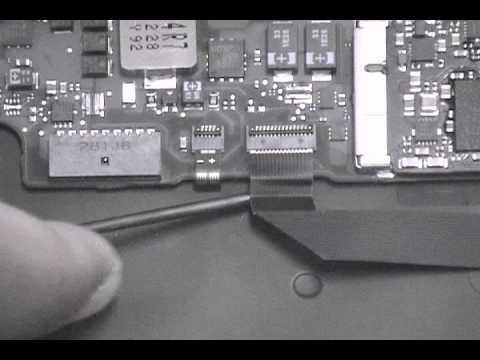 Macbook Air A1466 Logic Board Removal Guide Disconnect the Flex Cables