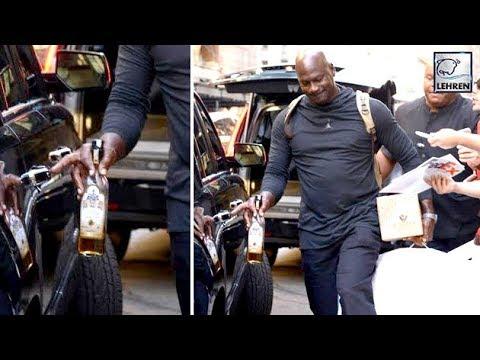 e6bdd6eaa2fd95 Michael Jordan Walks Around NYC With Half-Empty Tequila Bottle - YouTube