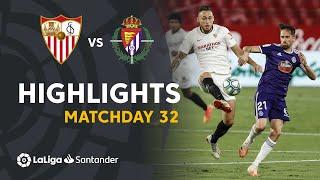 Highlights Sevilla FC vs Real Valladolid (1-1)