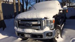 2011 Ford f250 6.7 Lariat - Cold start