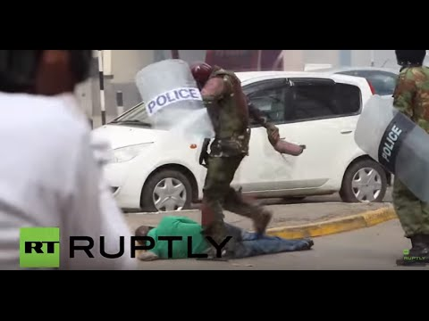 Kenya: Police beat protesters rallying against election oversight body in Nairobi