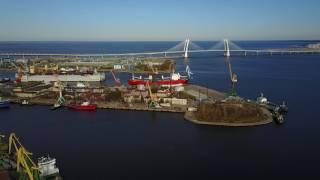 Морской порт Санкт-Петербург с высоты