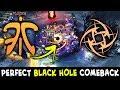 BLACK HOLE COMEBACK vs COMBO Aghs Chaos Knight + PA — Fnatic vs NIP