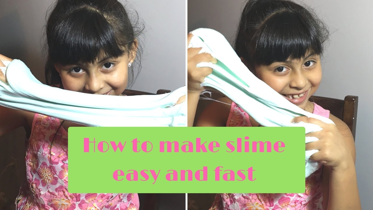 How to make slime fast and easy youtube how to make slime fast and easy ccuart Image collections