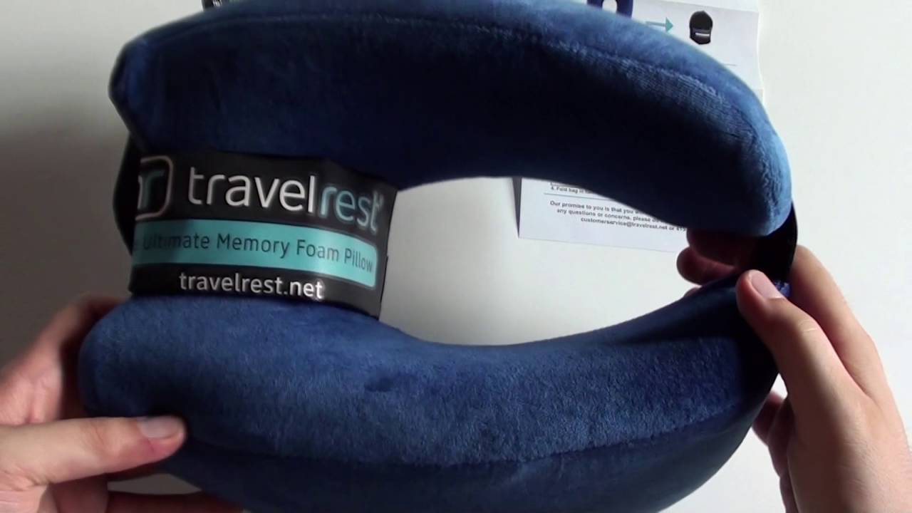 Cuscino da viaggio in memory foam di Travelrest - YouTube a82f77f8a9c