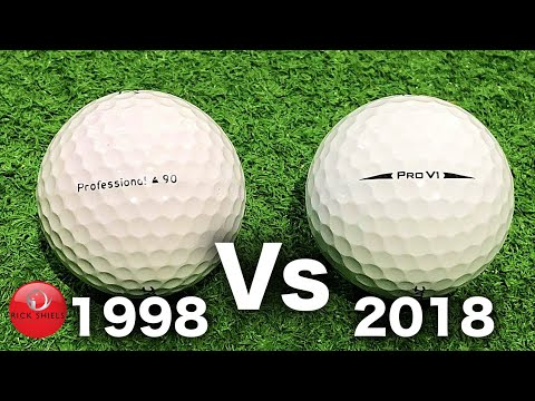 1998 Golf Ball Vs 2018 Golf Ball (20 Year Test)