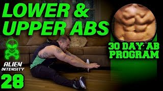 Lower Abs & Upper Abs Workout At Home | 30 Days to Six Pack Abs for Beginner to Advanced Day 28