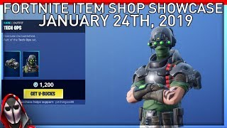 *NEW* Tech Ops Skin Set! January 24th New Skins || Daily Fortnite Item Shop