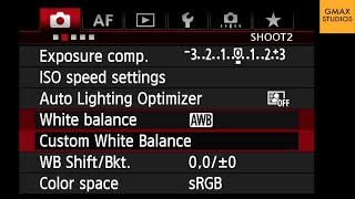How do white balance canon dslr cameras | photography tips and tricks