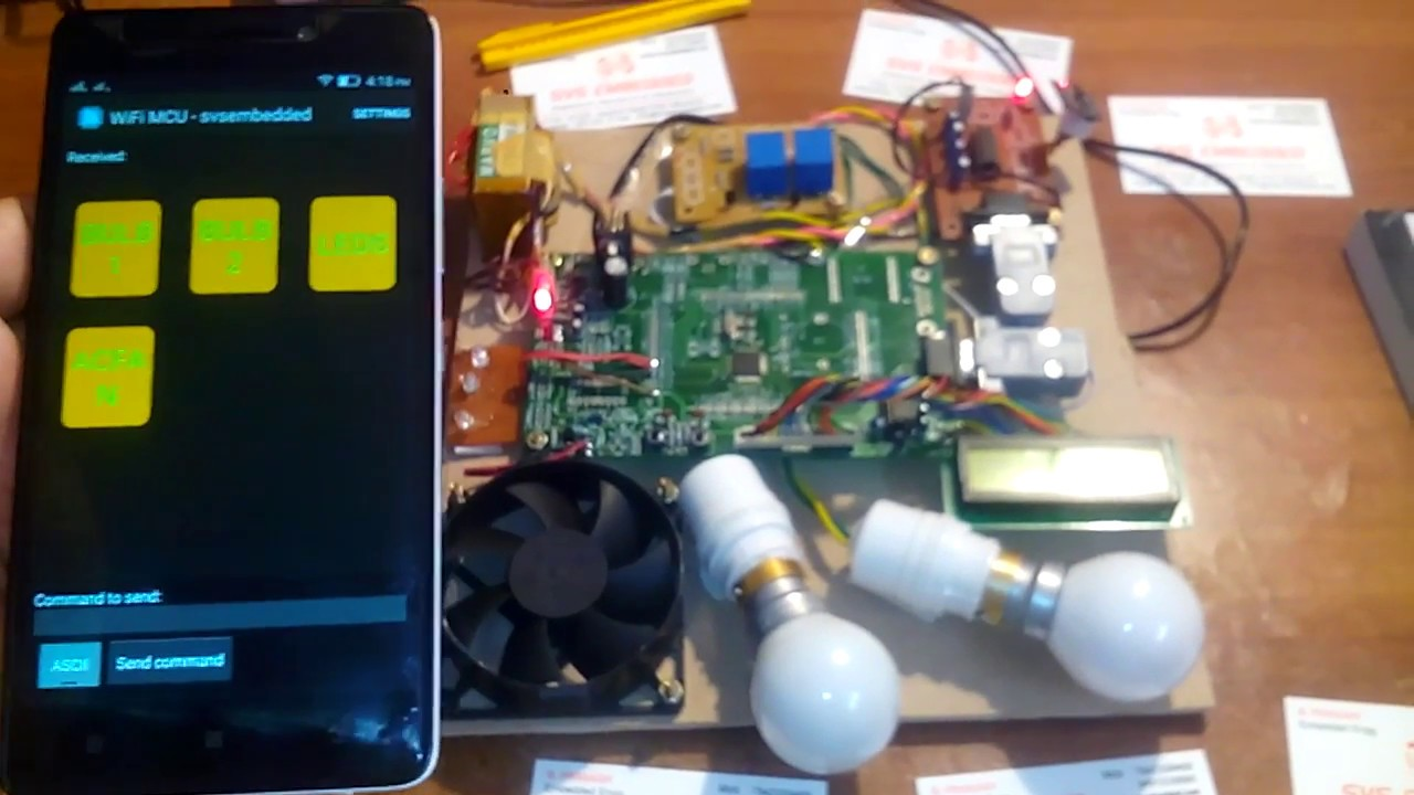 WiFi project: ESP8266 Based Home Automation Using ARM7 LPC2148